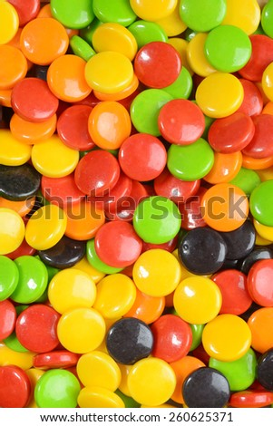 Assorted hard candy background