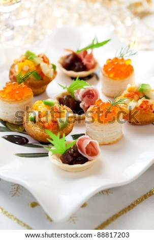 Assorted  holiday snacks on plate