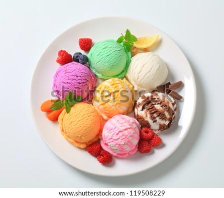 Assorted ice cream  - stock photo
