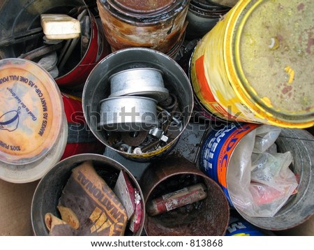 assorted junk - stock photo