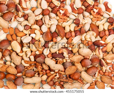 Assorted mixed nuts - stock photo