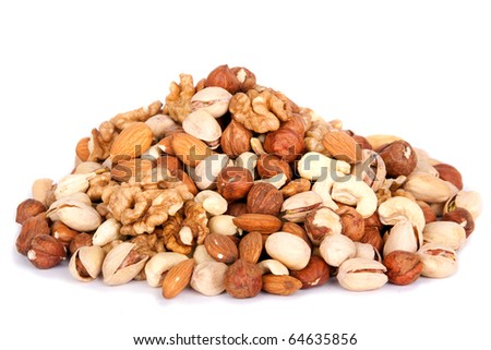 assorted nut mix - stock photo