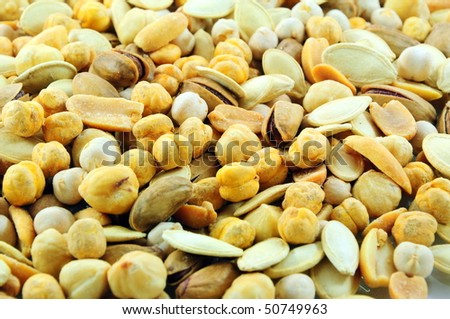 Assorted nuts as a background - stock photo
