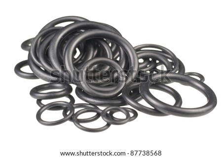 Assorted O Rings. Unsharpened file - stock photo