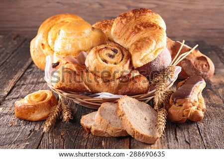 assorted pastry - stock photo