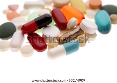 Assorted pills - stock photo