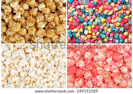 Assorted popcorn - stock photo