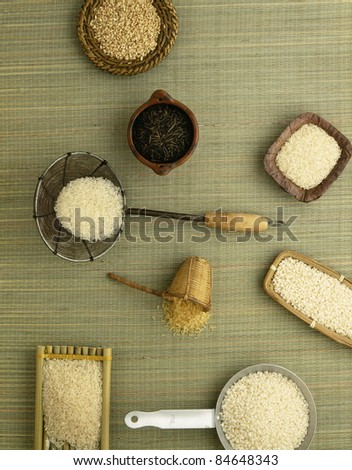 Assorted rice - stock photo