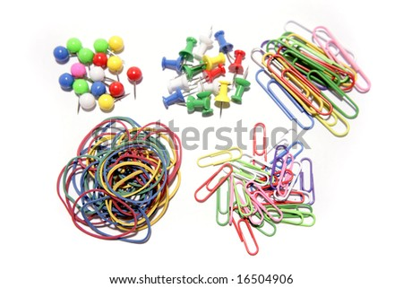 Assorted stationery - stock photo