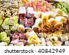 Assorted Turkish Delight bars(Sugar coated soft candy) - stock photo