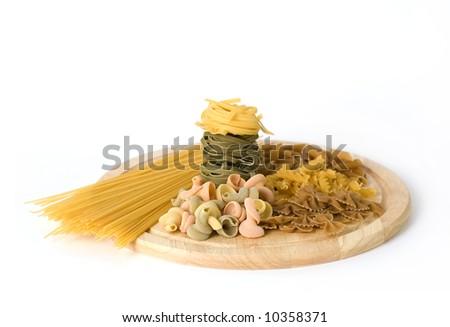 Assorted  uncooked pasta - stock photo