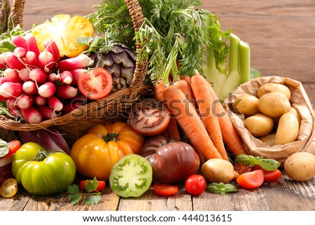 assorted vegetable - stock photo