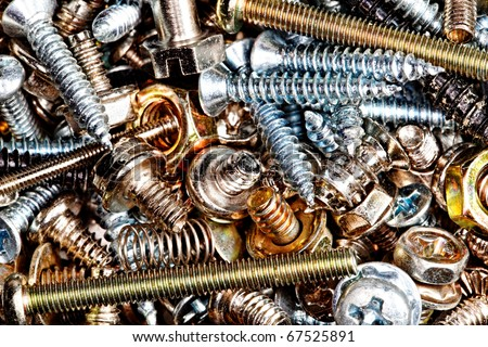 assortment of bolts and screws