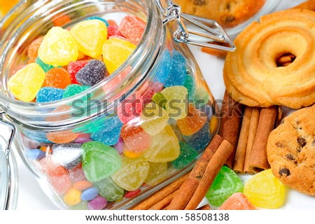 assortment of colorful candies - stock photo