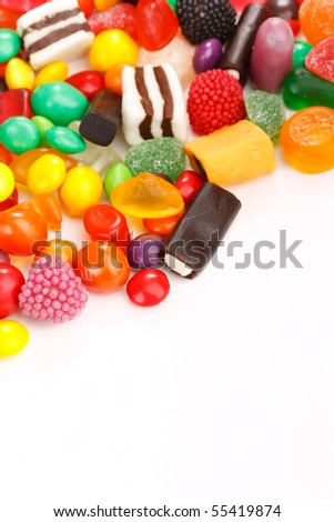 assortment of colorful candy - stock photo