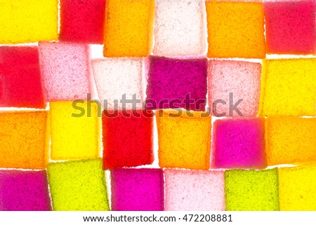 Assortment of colorful fruit jelly candy