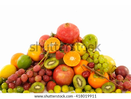 Assortment of exotic fruits    - stock photo