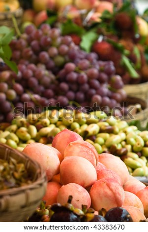 assortment of exotic fruits (2) - stock photo