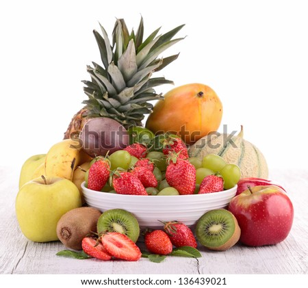 assortment of fruits - stock photo