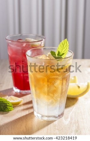 Assortment of Iced Teas Infused with Lemonade