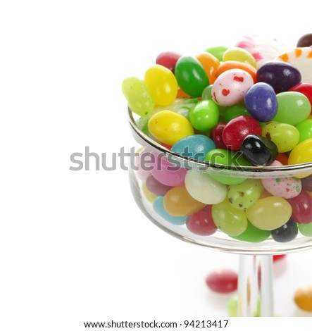 Assortment Of Jelly Beans In A Glass - stock photo