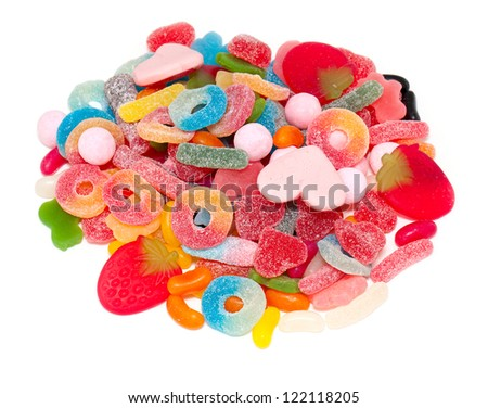 assortment of jelly candy - stock photo