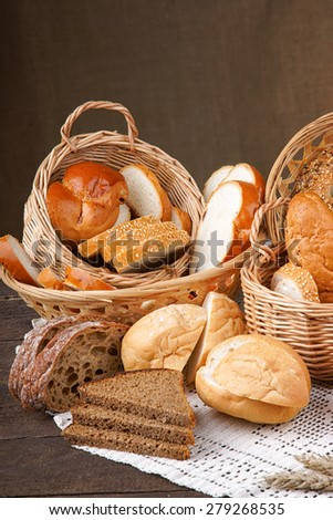 Assortment of sliced handmade bread