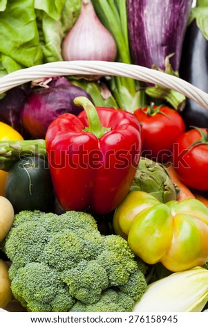 Assortment of vegetables Nutritious and healthy food - stock photo