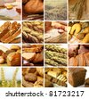 assortment set of baked bread - stock photo