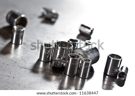 asssoretd dirty flank sockets on the workshop table