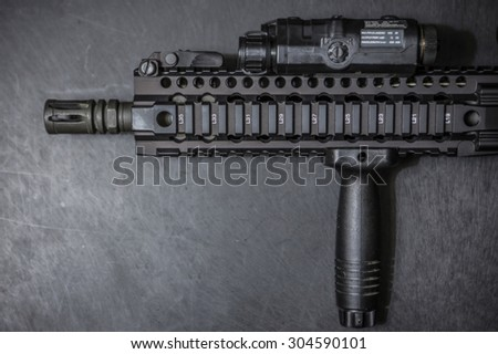assult rifle - stock photo