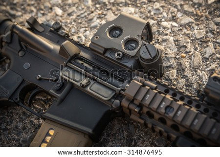 assult rifle body - stock photo