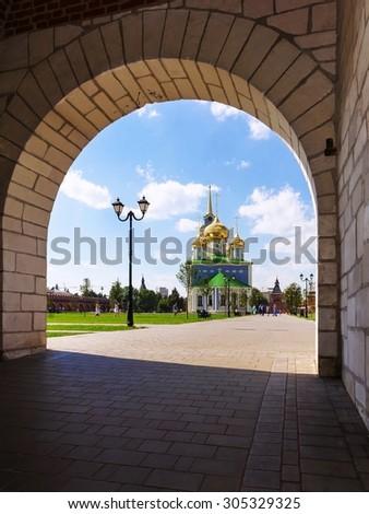 Assumption Cathedral Tula Kremlin, Russia - stock photo