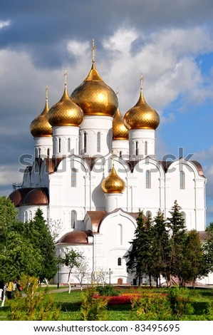 Assumption Cathedral - Yaroslavl, Russia - stock photo
