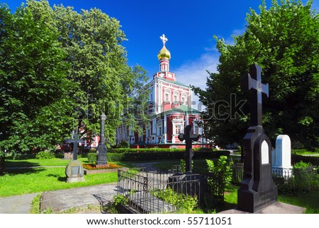 Assumption Church Novodevichy Convent. Russia. Moscow.