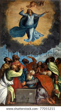 Assumption of the Blessed Virgin Mary - stock photo