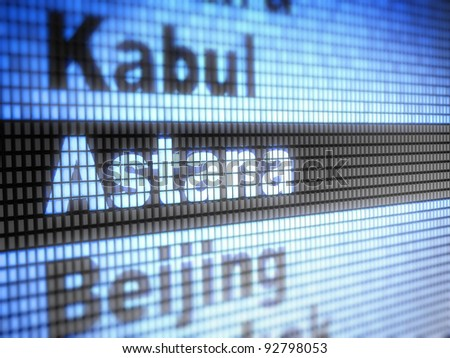 Astana. World capitals  Full collection of icons like that is in my portfolio - stock photo
