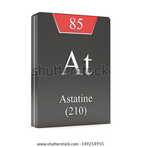 Astatine stock photos images pictures shutterstock for Periodic table at 85