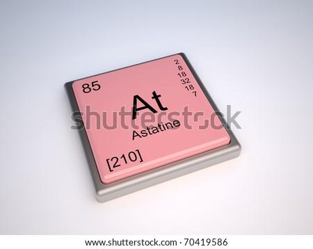 Astatine Chemical Element Periodic Table Symbol Stock Illustration