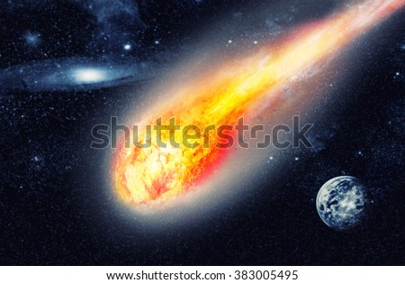 Asteroid in space - stock photo