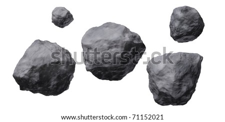 Asteroids - stock photo