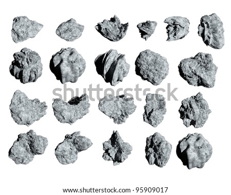 Asteroids to use in spacescapes. Easy to use, no background - stock photo