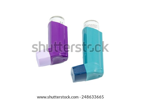 Asthma Inhaler - stock photo