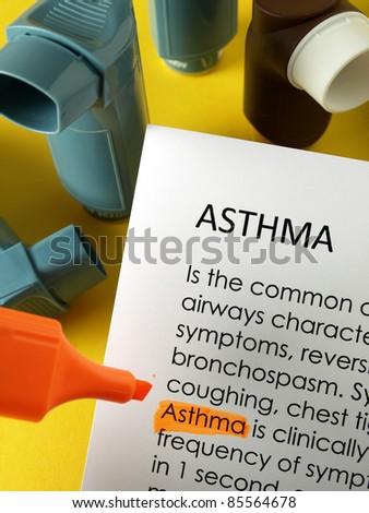 Asthma treatments - stock photo
