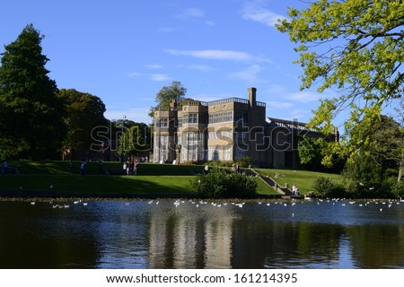 Astley Hall, a British manor house in Chorley, England. - stock photo