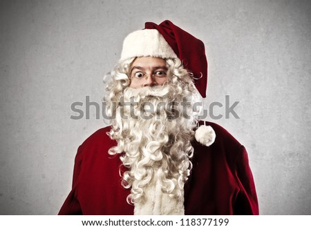 Astonished Santa Claus