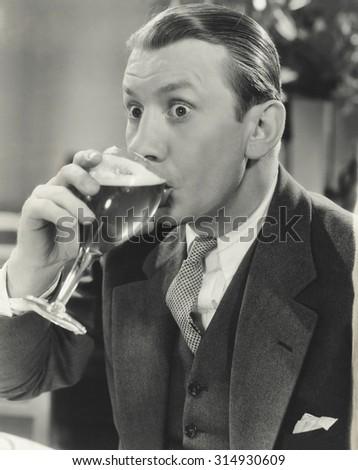 Astonishing beer - stock photo