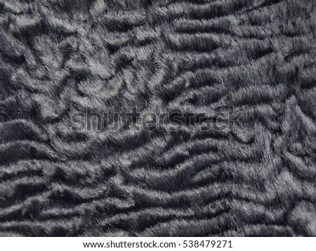 Astrakhan synthetic texture
