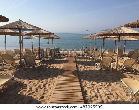 Astris beach in Thassos island, in september.