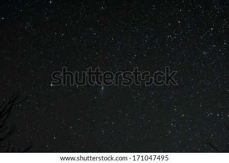 Astro Photo: Starfield with Andromeda Galaxy - stock photo